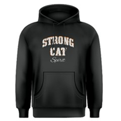 Black Strong Cat Spirit  Men s Pullover Hoodie by FunnySaying
