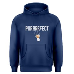Blue Purrrect Cat  Men s Pullover Hoodie by FunnySaying