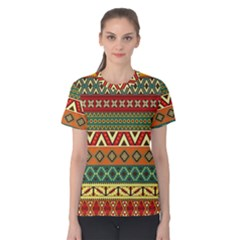 Mexican Folk Art Patterns Women s Cotton Tee by Amaryn4rt
