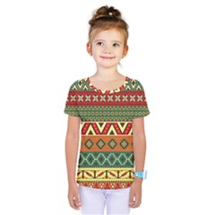 Mexican Folk Art Patterns Kids  One Piece Tee by Amaryn4rt