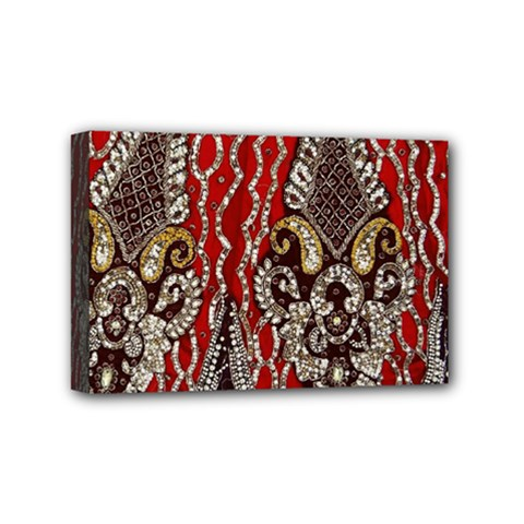 Indian Traditional Art Pattern Mini Canvas 6  X 4  by Amaryn4rt