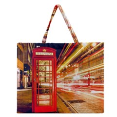 Telephone Box London Night Zipper Large Tote Bag by Amaryn4rt