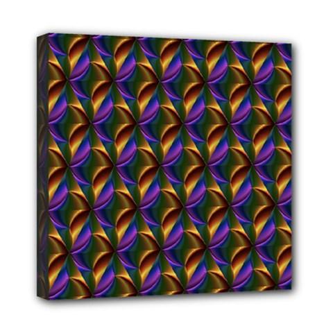 Seamless Prismatic Line Art Pattern Mini Canvas 8  X 8  by Amaryn4rt