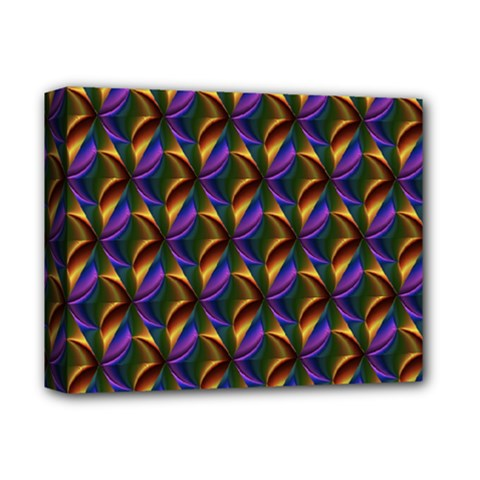 Seamless Prismatic Line Art Pattern Deluxe Canvas 14  X 11  by Amaryn4rt