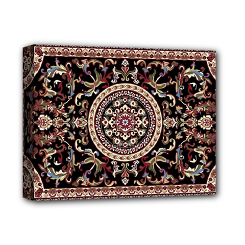 Vectorized Traditional Rug Style Of Traditional Patterns Deluxe Canvas 14  X 11  by Amaryn4rt