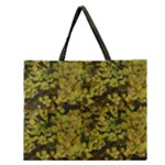 Bright Green Leaves Zipper Large Tote Bag
