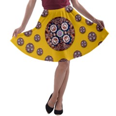 I Can See You A Line Skater Skirt by pepitasart