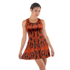 3d Metal Pattern On Wood Cotton Racerback Dress