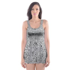 Abstract Flowing And Moving Liquid Metal Skater Dress Swimsuit