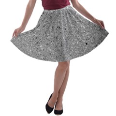 Abstract Flowing And Moving Liquid Metal A-line Skater Skirt by Amaryn4rt