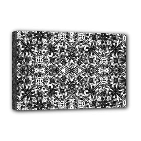 Modern Oriental Pattern Deluxe Canvas 18  X 12   by dflcprints