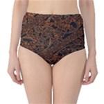 Art Traditional Indonesian Batik Pattern High-Waist Bikini Bottoms