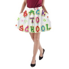 Back To School A Line Pocket Skirt by Amaryn4rt