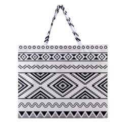 Aztec Pattern Zipper Large Tote Bag by Amaryn4rt