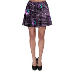 Bird Color Purple Passion Peacock Beautiful Skater Skirt by Amaryn4rt