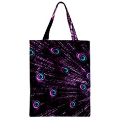 Bird Color Purple Passion Peacock Beautiful Zipper Classic Tote Bag by Amaryn4rt