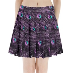 Bird Color Purple Passion Peacock Beautiful Pleated Mini Skirt by Amaryn4rt