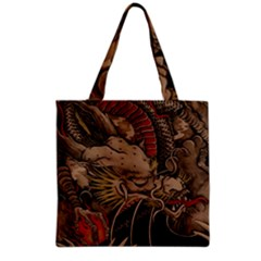 Chinese Dragon Grocery Tote Bag by Amaryn4rt