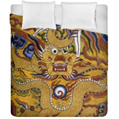 Chinese Dragon Pattern Duvet Cover Double Side (california King Size) by Amaryn4rt
