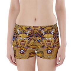 Chinese Dragon Pattern Boyleg Bikini Wrap Bottoms