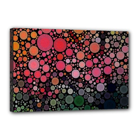 Circle Abstract Canvas 18  X 12  by Amaryn4rt