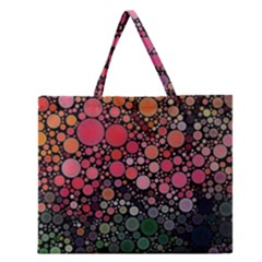 Circle Abstract Zipper Large Tote Bag by Amaryn4rt