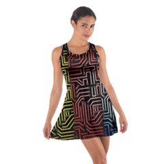 Circuit Board Seamless Patterns Set Cotton Racerback Dress