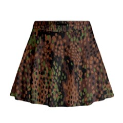 Digital Camouflage Mini Flare Skirt by Amaryn4rt