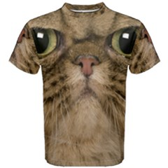 Cute Persian Cat Face In Closeup Men s Cotton Tee by Amaryn4rt