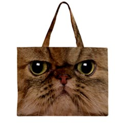 Cute Persian Cat Face In Closeup Zipper Mini Tote Bag by Amaryn4rt