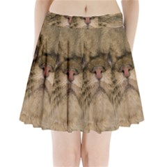 Cute Persian Cat Face In Closeup Pleated Mini Skirt by Amaryn4rt