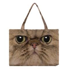 Cute Persian Cat Face In Closeup Medium Tote Bag by Amaryn4rt
