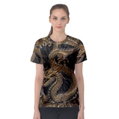 Dragon Pentagram Women s Sport Mesh Tee by Amaryn4rt