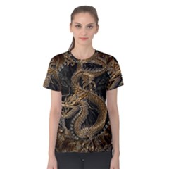 Dragon Pentagram Women s Cotton Tee by Amaryn4rt