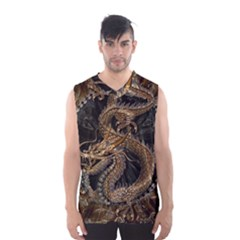 Dragon Pentagram Men s Basketball Tank Top by Amaryn4rt