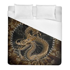 Dragon Pentagram Duvet Cover (full/ Double Size) by Amaryn4rt