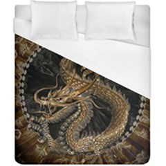 Dragon Pentagram Duvet Cover (california King Size) by Amaryn4rt