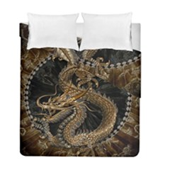 Dragon Pentagram Duvet Cover Double Side (full/ Double Size) by Amaryn4rt