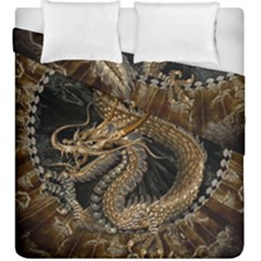 Dragon Pentagram Duvet Cover Double Side (king Size) by Amaryn4rt