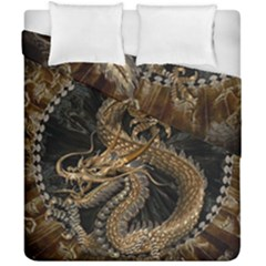Dragon Pentagram Duvet Cover Double Side (california King Size) by Amaryn4rt
