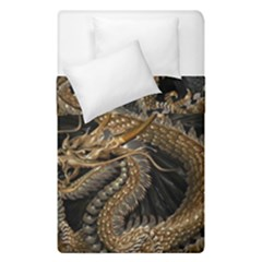 Dragon Pentagram Duvet Cover Double Side (single Size) by Amaryn4rt