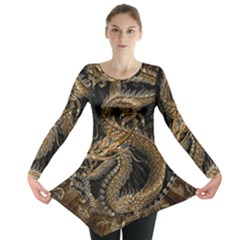 Dragon Pentagram Long Sleeve Tunic  by Amaryn4rt