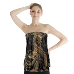 Dragon Pentagram Strapless Top by Amaryn4rt
