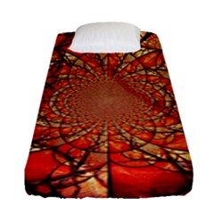 Dreamcatcher Stained Glass Fitted Sheet (single Size) by Amaryn4rt