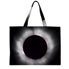 Solar Eclipse Zipper Large Tote Bag by Amaryn4rt