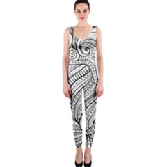 Zentangle Art Patterns Onepiece Catsuit by Amaryn4rt