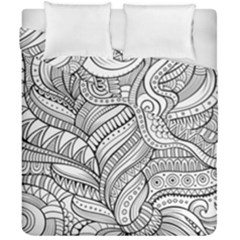 Zentangle Art Patterns Duvet Cover Double Side (california King Size) by Amaryn4rt