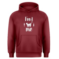 Red Feed Me Cat  Men s Pullover Hoodie