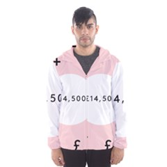 Added Less Equal With Pink White Hooded Wind Breaker (men) by Alisyart