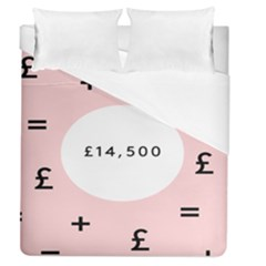 Added Less Equal With Pink White Duvet Cover (queen Size) by Alisyart